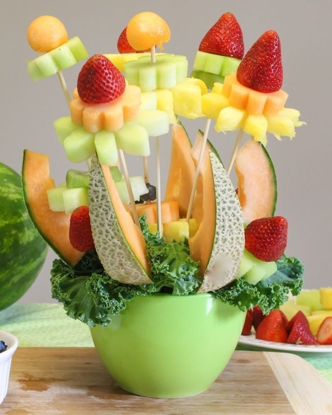 How To Make A Flower Fruit Basket : How to make a diy fruit bouquet it s easier than you think