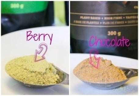 Raw hemp smoothie powders
