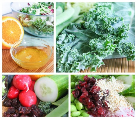 Sesame Orange Kale Salad - Ingredients
