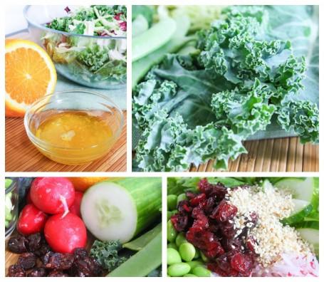Sesame Orange Kale Salad - Ingredients