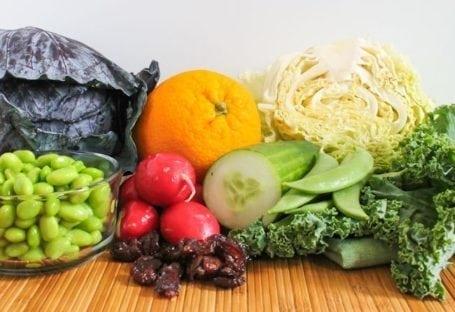 ingredients for sesame orange kale salad