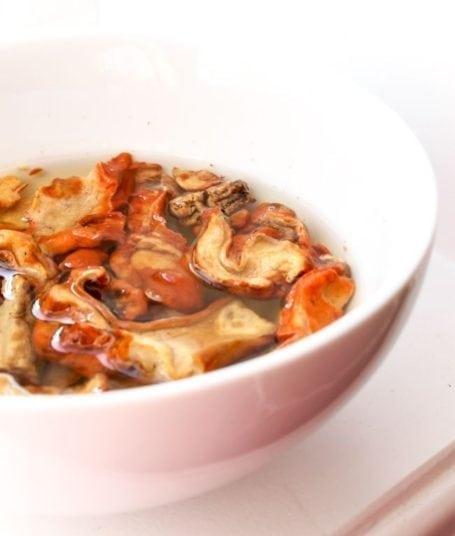 lobster mushrooms soaking