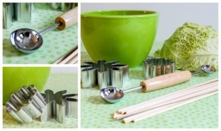 tools for making a fruit bouquet