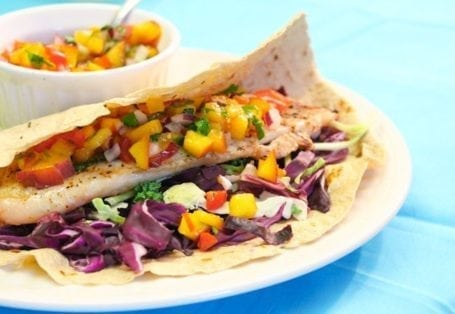 Grilled Tilapia Taco with Nectarine Salsa