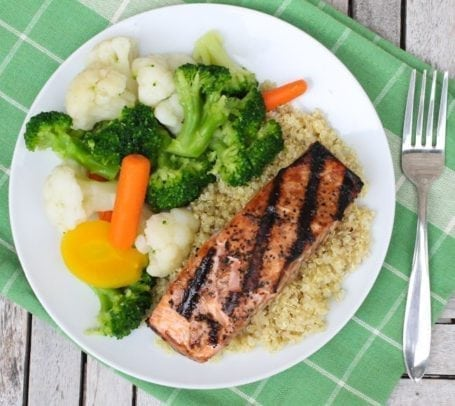 Maple Glazed Grilled Salmon - Eat Spin Run Repeat