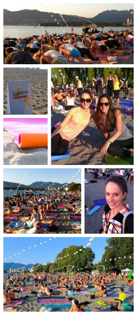 SeaWheeze sunset yoga