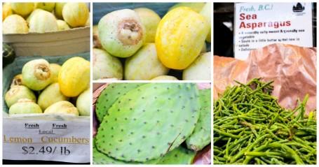 lemon cucumbers and sea asparagus