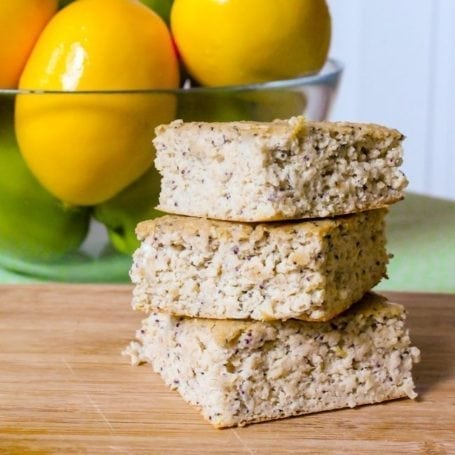 lemon poppyseed squares