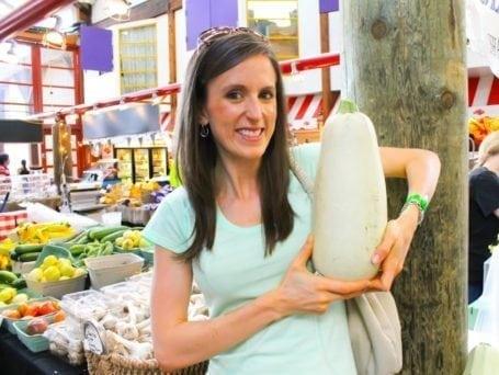 massive zucchini at the market in granville island