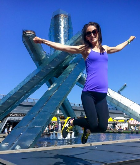 me at the vancouver olympic torch