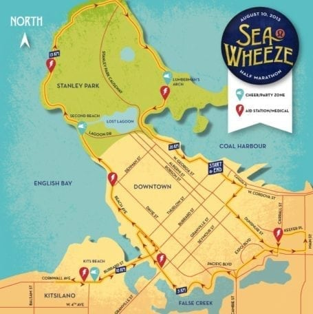 SeaWheeze 2013 route