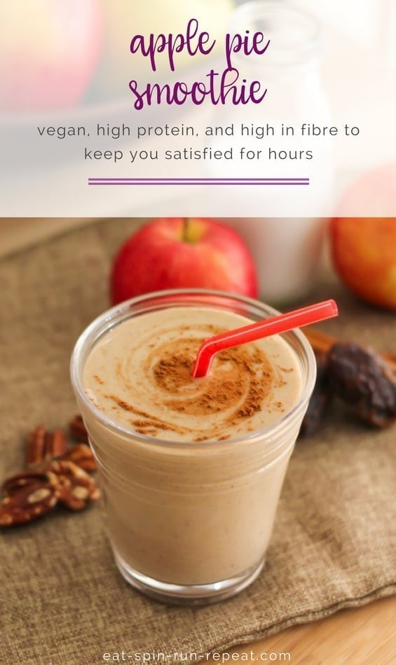 Apple Pie Smoothie || vegan, high-protein, perfect for fall! || Eat Spin Run Repeat