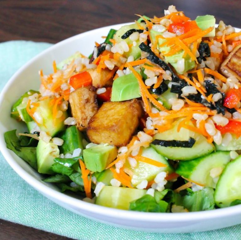 Deconstructed Sushi Salad - Eat Spin Run Repeat