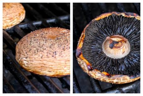 portobellos on the grill