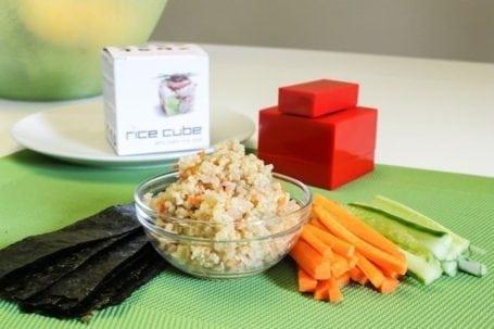 quinoa sushi cube making ingredients