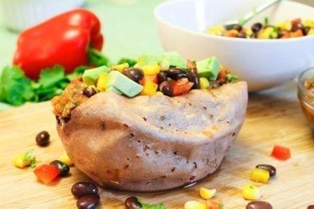 Loaded Southwestern Stuffed Sweet Potato 1