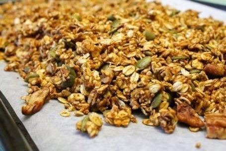 Pecan and Pumpkin Pie Spiced Granola - uncooked 2