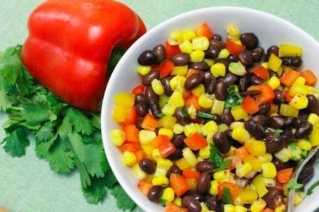 corn bean and pepper mix for sweet potatoes