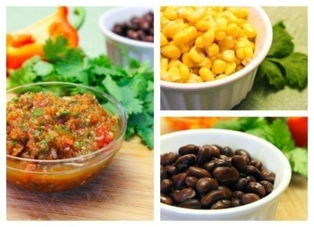 salsa beans and corn