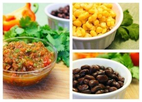 salsa beans and corn