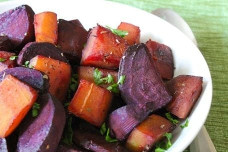 Maple Balsamic Roasted Beets and Squash - Eat Spin Run Repeat
