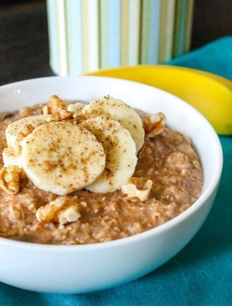 Peanut Butter and Banana Oatmeal - Eat Spin Run Repeat 1