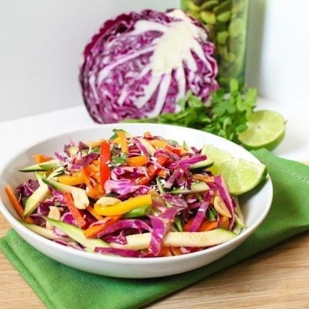 Sweet n Spicy Thai Rainbow Salad - Eat Spin Run Repeat