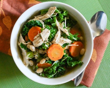 White Bean Turkey and Kale Soup - Eat Spin Run Repeat