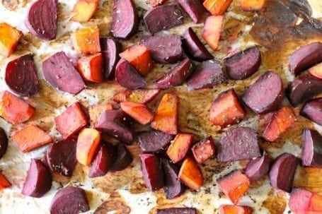 roasted squash and beets