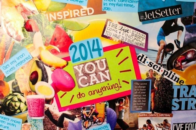 2014 vision board - Eat Spin Run Repeat