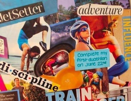 2014 vision board - Eat Spin Run Repeat