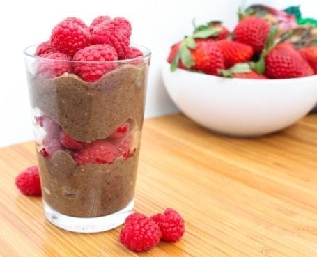 Double Chocolate Raspberry Chia Parfait - Eat Spin Run Repeat