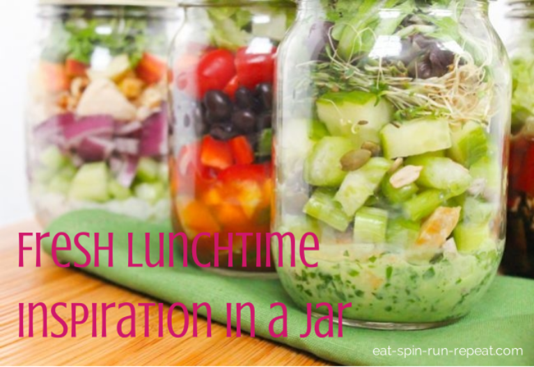 Fresh Lunchtime Inspiration in a Jar - Eat Spin Run Repeat