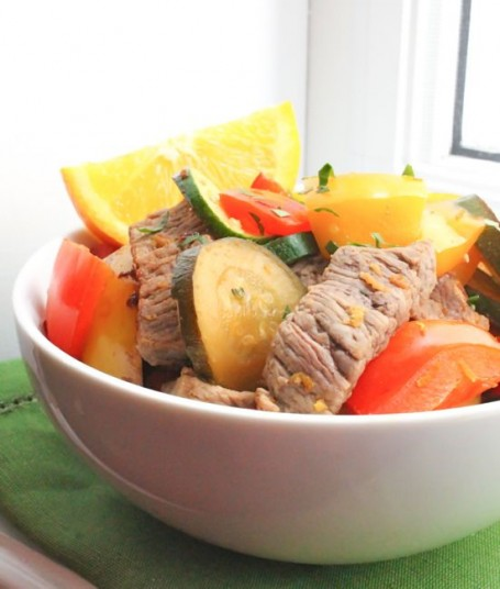 Ginger-Orange Beef and Pepper Stir Fry - Eat Spin Run Repeat