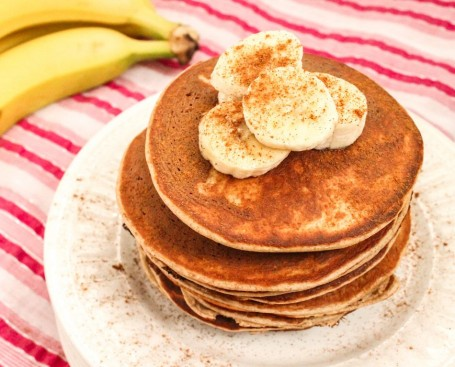 Gluten Free Peanut Butter and Ginger Protein Pancakes - Eat Spin Run Repeat