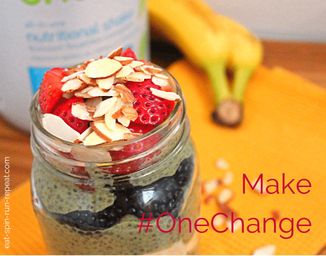 Make OneChange - Berry Banana Chia Parfait - Eat Spin Run Repeat