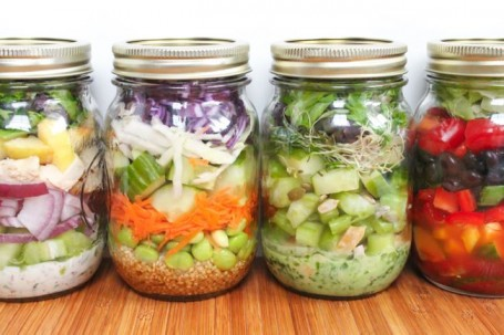 Portable Salad Jars - Eat Spin Run Repeat
