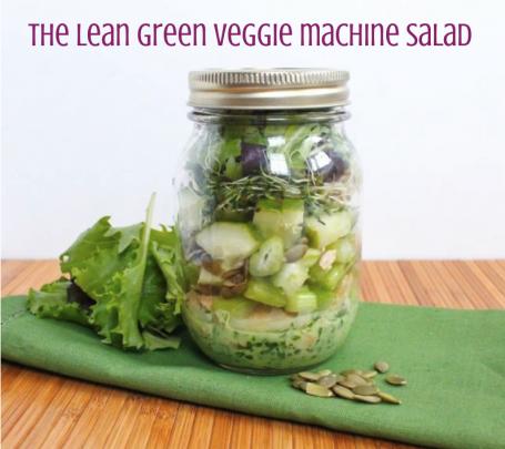 The Lean Green Veggie Machine Salad