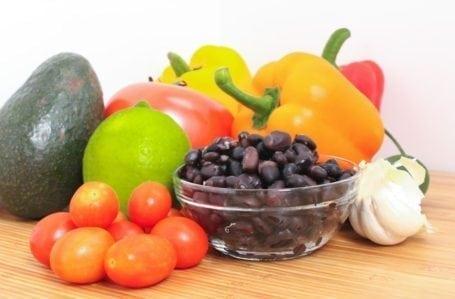 ingredients for huevos rancheros salad