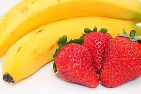 strawberries and bananas