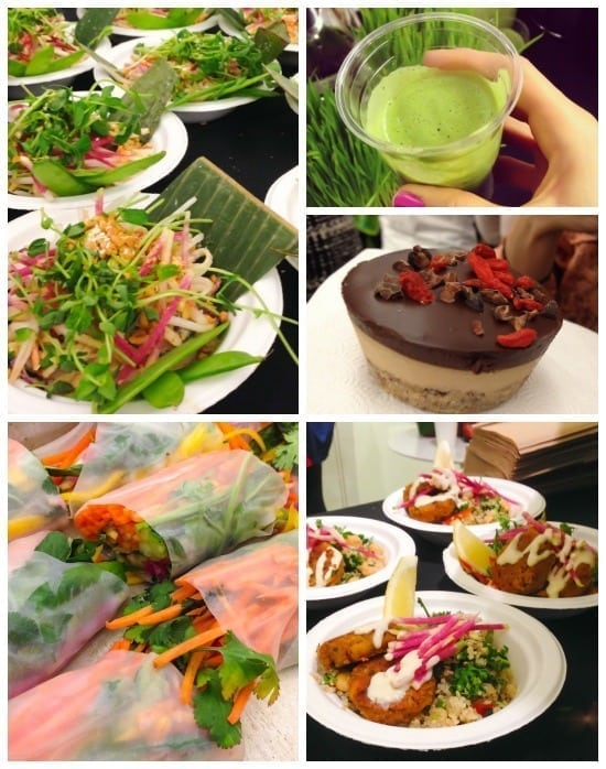 Food catered by Thrive Energy Lab at Thrive Energy Cookbook Launch