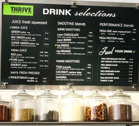Thrive Energy Lab Dessert Selections