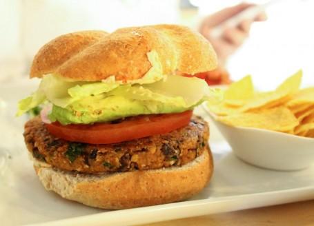 Thrive Energy Lab veggie burger