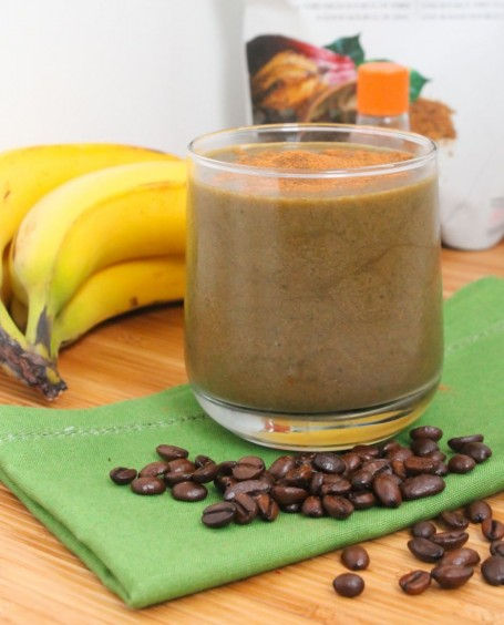 vegan mint chocolate mocha protein smoothie - eat spin run repeat