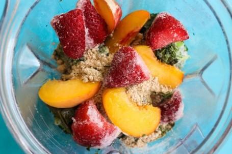 frozen fruit in the vitamix
