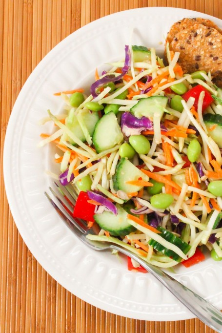 Asian Broccoli Slaw with Ginger Peanut Dressing - The Taylor House