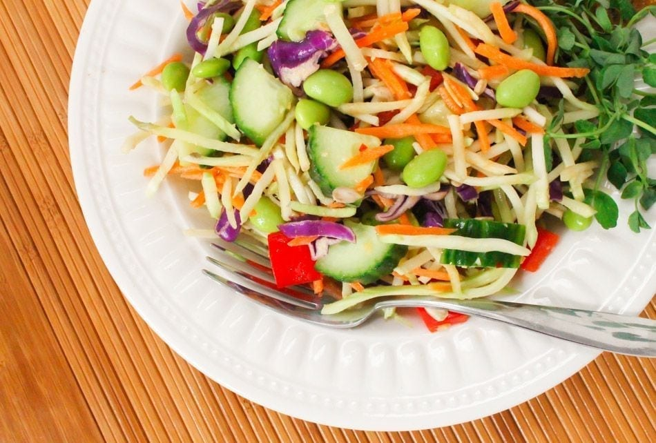 ... Batch Meal Prep: Asian Broccoli Slaw Salad with Peanut Ginger Dressing