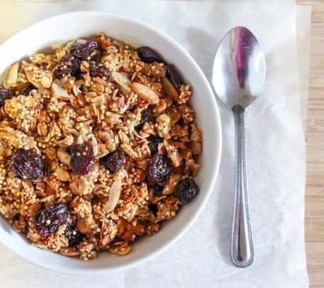 cherry vanilla chai granola - eat spin run repeat