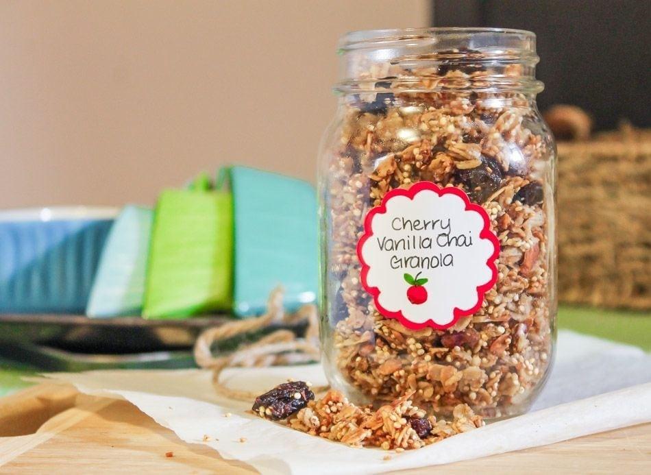 cherry vanilla chai granola - eat spin run repeat