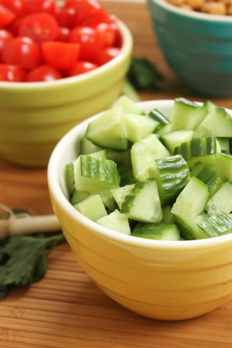 cucumbers and tomatoes